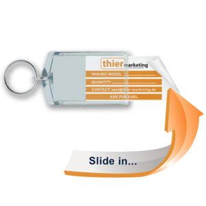 Schlüsselanhänger für die Autovermietungsbranche Modell Slide in S4 und S5