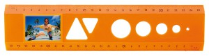 Das Bildlineal Neon Orange