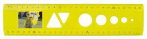 Das Bildlineal Neon Gelb