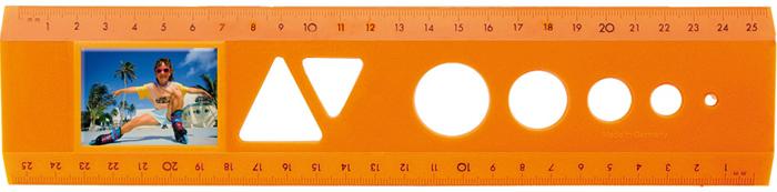 Bildlineal Modell Neon Orange