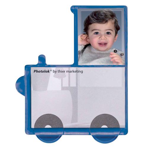 Modell Photolok blau (ist ein Fotomagnet)